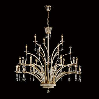 Orlando Pendant 21 Light French Gold/crystal (item Requires Assembly)