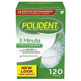 Polident 3 minuty antybakteryjne protezy cleanser, 120 ea