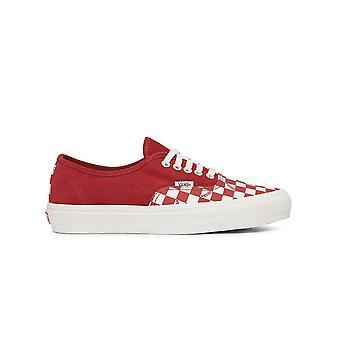 Vans Ezcr011006 Men's Wit/rood Stoffen Sneakers