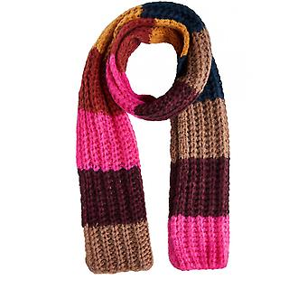 Oui Chunky Knit Block Colour Scarf