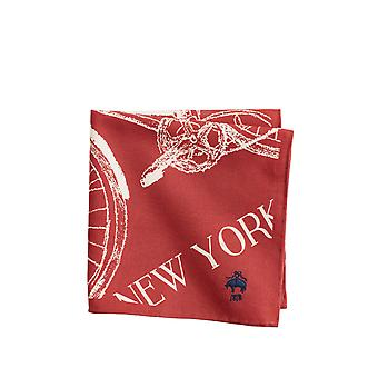 Brooks Brothers Men's Cotton Bicycle Print Pocket Square
