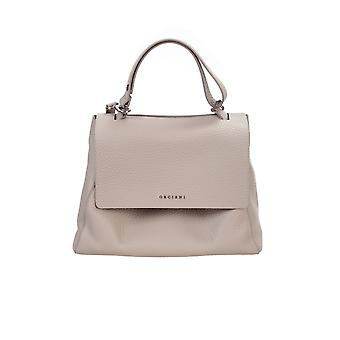 Orciani Bt2006softconchiglia Women's Beige Leather Handbag