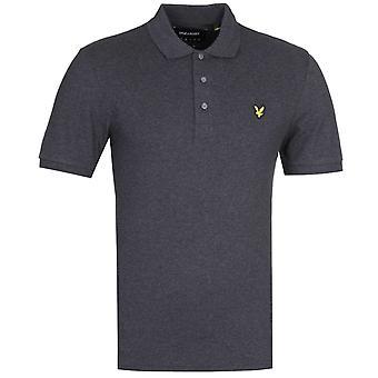 Lyle & Scott Slim Stretch Charcoal camisa de polo gris