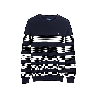 Gant Men's Ribbed Striped Sweater Regular Fit