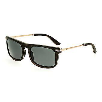 Earth Wood Queensland Polarized Sunglasses - Espresso/Black