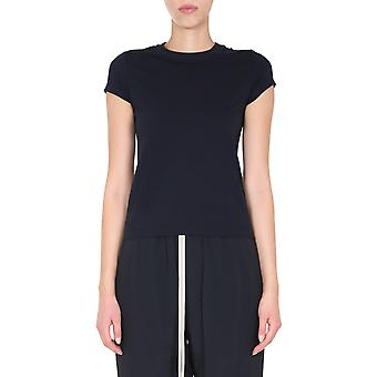 Rick Owens Rp20f2235ja96 Women's Grey Cotton T-shirt