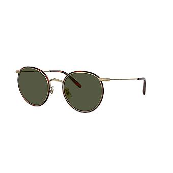 Oliver Peoples Casson OV1269ST 528452 Antique Gold-Dark Mahogany/G15 Sunglasses