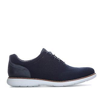 Men's Rockport Garett Mesh Lace Up Shoe in Blue