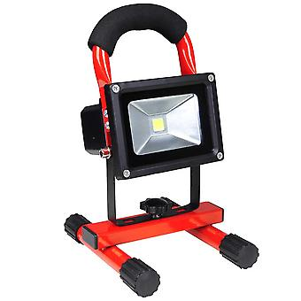 Yescom Rechargeable 10W LED Work Light, IP65 Waterproof LED Flood Spot Light Security Lights for Camping Emergency, Red