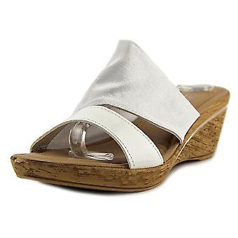 Easy Street Womens Adagio Open Toe Casual Slide Sandals