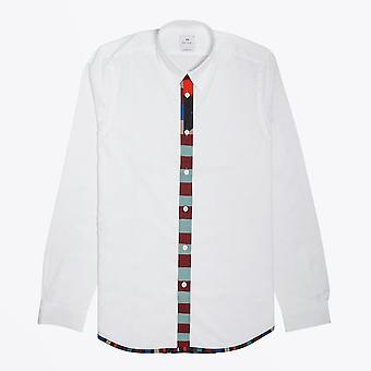 PS Paul Smith  - Tailored Colour Placket Shirt - White