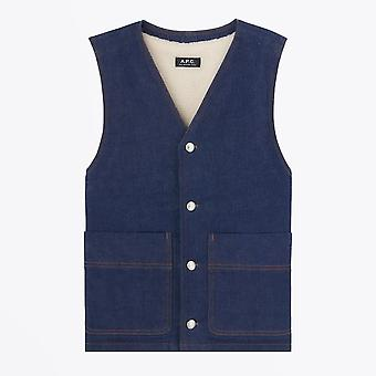 A.P.C.  - Spud Sleeveless Vest - Indigo Blue