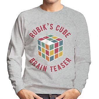 Rubik's Cube hersenen teaser mannen Sweatshirt