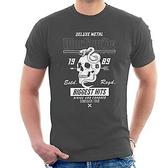Teilen & erobern weltweit Metall Schädel Schlange Männer's T-Shirt