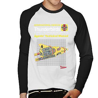 Thunderbirds Agents Technical Manual Thunderbird 4 Men's Baseball Long Sleeved T-Shirt