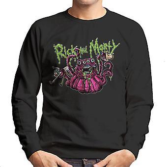 Rick og Morty 4 eyed monster mænd ' s sweatshirt