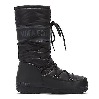 Moon Boot Nylon High Womens Black Boots