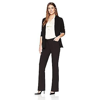 Merke - Lark & Ro Dame&s Bootcut Bukse Bukse: Svingete Passform, Svart, 4S