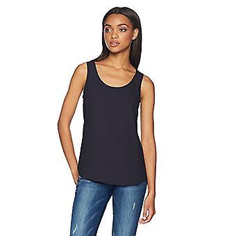 Brand - Daily Ritual Women's Shirt-Tail Scoop-Neck Sleeveless Shell, n...