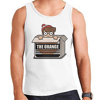 Wheres Wally The Orange Men-apos;s Vest
