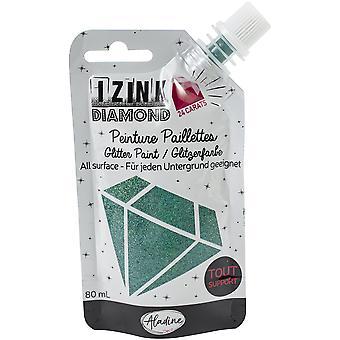 Aladine Izink Diamond Glitter Paint 24 Carats Turquoise 80ml