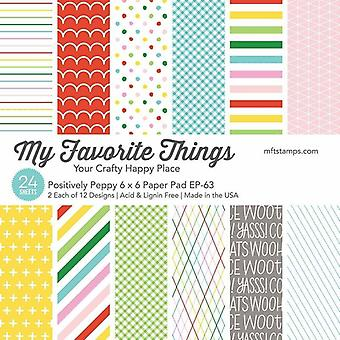 My Favorite Things Positively Peppy 6x6 Inch Paper Pad
