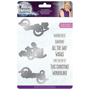 Crafter's Companion Enchanted Christmas Stamp & Die Winter Wonderland