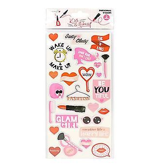 Dovecraft Dovecraft Kiss & Makeup Dimensional Stickers