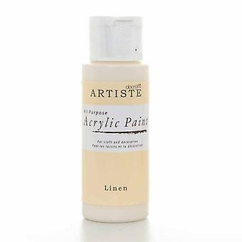 Peinture acrylique Docrafts (2oz) - Lin (DOO 763253)