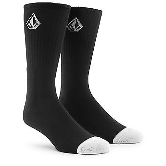Volcom 3 pair Crew Socks ~ Crew black