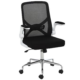 Vinsetto Folding Back Office Chair Compact w/ Lifting Arms Mesh Cushion Mesh Seat Adjustable Height 5 Wheels Swivel