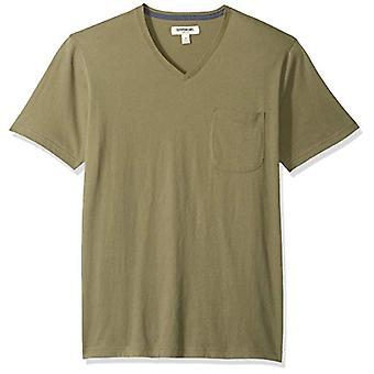 Goodthreads Men's Kurzarm Sueded Jersey V-Ausschnitt Tasche T-Shirt, Olive, XX...