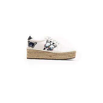 Greenhouse Polo White Navy Sequin Embroidery Sneakers