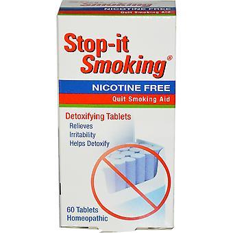 NatraBio, Stop-it Smoking, Detoxifying Tablets, Nicotine Free, 60 Tablets