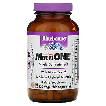 Bluebonnet Nutrition, Multi One, Single Daily Multiple, Iron-Free, 120 Vegetable