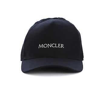 Moncler 3b7270054233742 Hombres's sombrero de tela azul