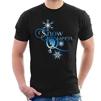 Disney gefrorene Schneekönigin Schneeflocken Text Männer's T-Shirt