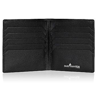 Black Malvern Leather Credit Card Wallet