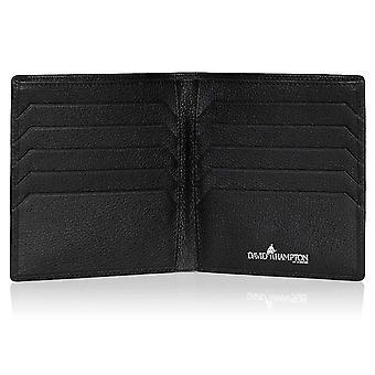 Carteira de cartão de crédito de couro Preto Malvern