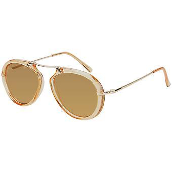 Gafas de sol para mujer con espejo amarillo (AZ-17-212)
