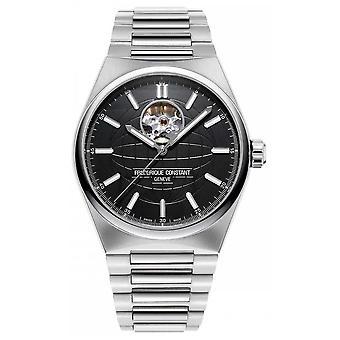 Frederique Constant Highlife Heartbeat Auto | Stalen armband | Black Dial FC-310B4NH6B Horloge