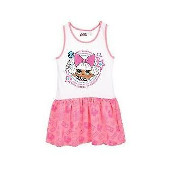 Dievčatá ET1355 LOL Prekvapenie Letné Bavlnené šaty bez rukávov