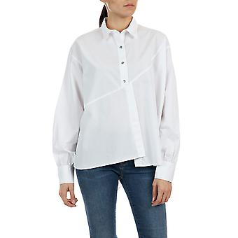Replay Women's Asymmetric Cotton Shirt Oversized Fit
