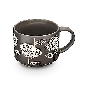 Cooksmart Retro Meadow Stacking Mug, Grey
