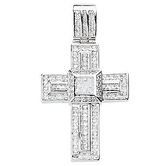 jäätyä pois sterling hopea 925 risti - kiinteä