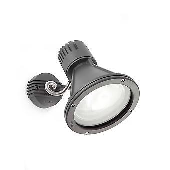 1 Lichte Outdoor Wall Spotlight Donkergrijs IP65