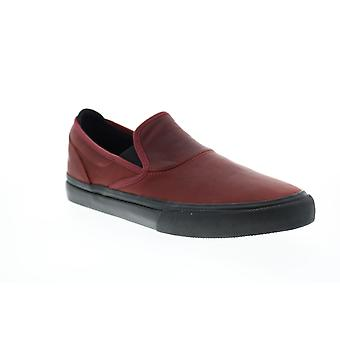 Emerica Wino G6 Slip On Mens Red Leather Skate Sneakers Shoes