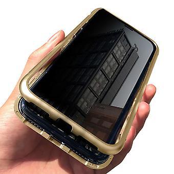 الاشياء المعتمدة® فون 11 برو ماكس المغناطيسي 360 ° حالة مع الزجاج المقزز - كامل غطاء الجسم القضية + الشاشة حامي الذهب