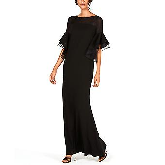 Calvin Klein | Tiered Bell-Sleeve Illusion Gown