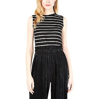 Maison Jules | Striped Ribbed-Knit Tank Top